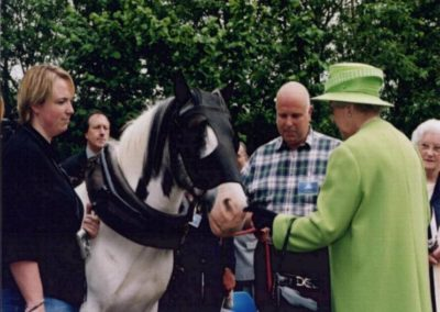 Queen meeting,Pit Pony Bob, Roy & Kirsty June 2002 Golden Jubilee Tour